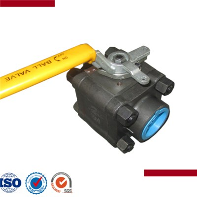 3Pcs Forged Steel Threaded Ball Valve