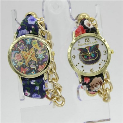 Vintage Fashion Elephant Charm Bracelet Ladies Watch