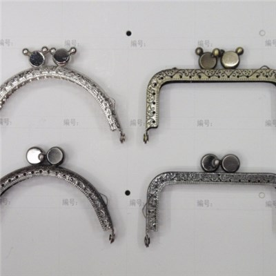 Metal Frame Kiss Clasp For Handle Bag Purse
