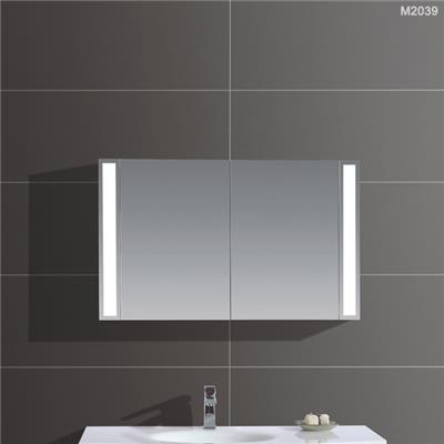 High Quality LED Lighting Mirror Cabinet With Doors