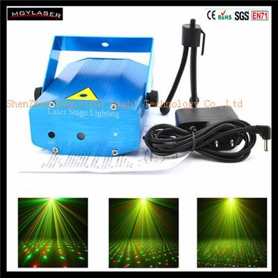 Portable Multi Pattern Adjustment Home Party Music Laser Stage Lights Lighting