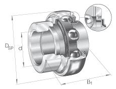 Radial Insert Ball Bearings GE Series