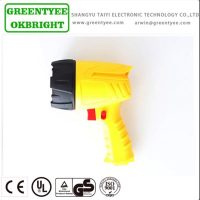 New Style Yellow Color Handheld Moving Spotlight Led