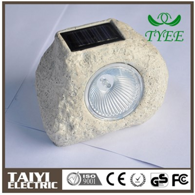 High Quality Portable Durable Stone-shaped Solar Energy Work Light With Strong Magnet
