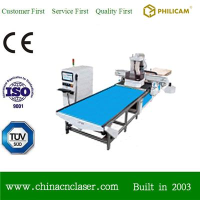 Panel Furniture Production Line With Auto Loading And Unloading Cnc Router