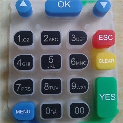 Laser Etched Rubber Keypad