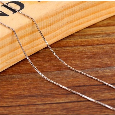 Box Silver Chain Necklaces SSC001