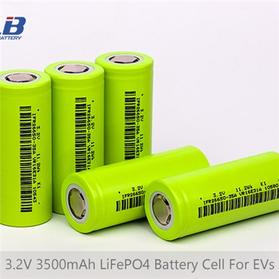 3.2V 3500mAh LiFePO4(LFP) Battery Cell For EVs