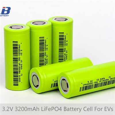 3.2V 3200mAh LiFePO4(LFP) Battery Cell For EVs