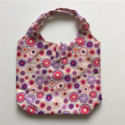 Sun Flowers Printed Polyester Shopping Bag With Clip Closure