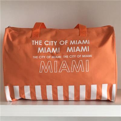 Miami Printed 600D Polyester Traveller Bag