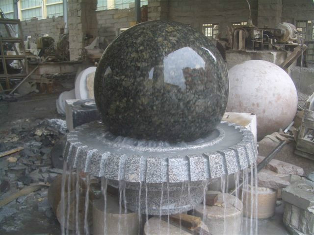 Natural granite stone fortune ball/fengshui ball