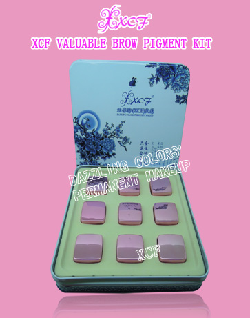 XCF TATTOO/PERMANENT MAKEUP EYEBROW PIGMENTS/COLORS/MICROPIGMENTS/SET