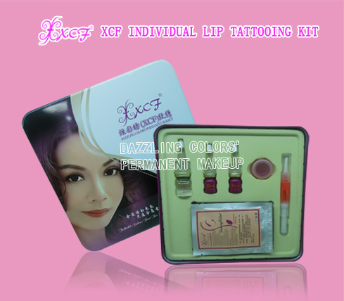 XCF INDIVIDUAL LIP TATTOOING KIT/LIP COLORS/MICROPIGMENT/SET DAZZLING COLORS