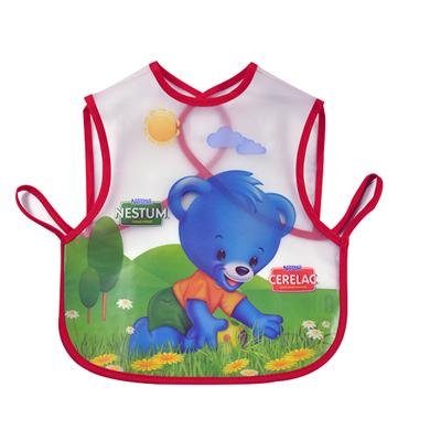 Baby Friendly Full Color Printing PEVA Laminated Polyester Waterproof Baby Bib