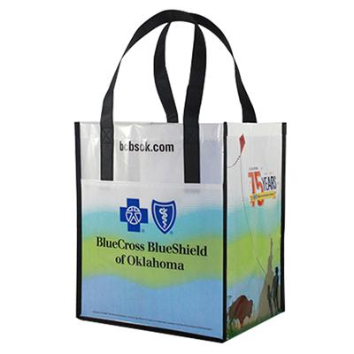 Non Woven Laminated Shopping Tote Bag With Custom Size