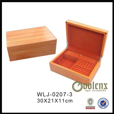 Large Wooden Cufflink Jewelry Box