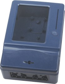 Single-phase electric meter case