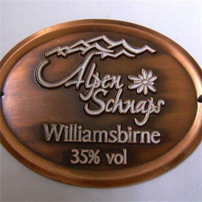 Personalized 3D Antique Copper Badge