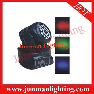 18*3w RGB LED Moving Head Light Stage Party DJ Light