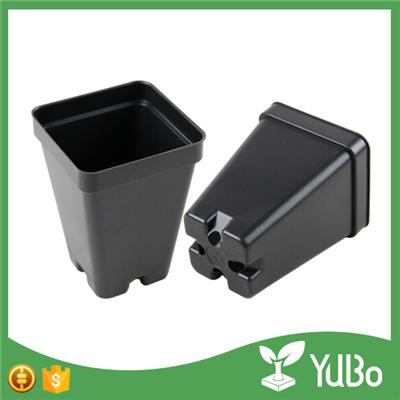 6.5*4.0*9.0cm Small Black Plastic Nursery Planter Pots