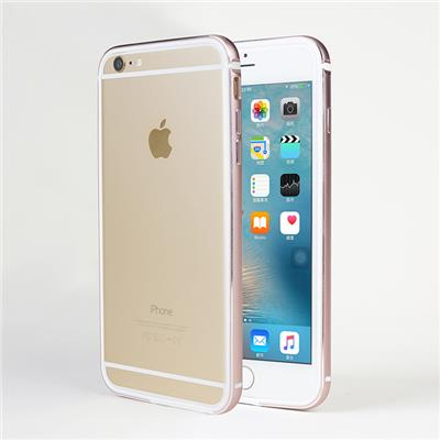 Aluminum Metal Frame With Soft TPU Rubber Lining Hard Bumper Case For Apple IPhone 6 / 6S Plus