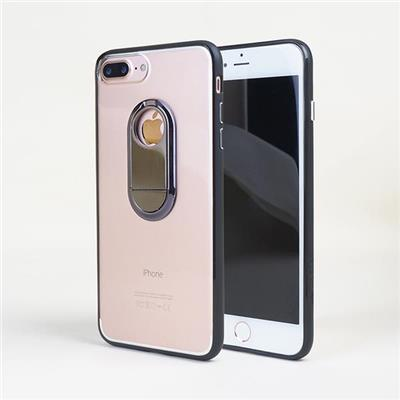 Ultra Thin IPhone 7 Plus Clear Hard PC Cover With Metal Stand In Back
