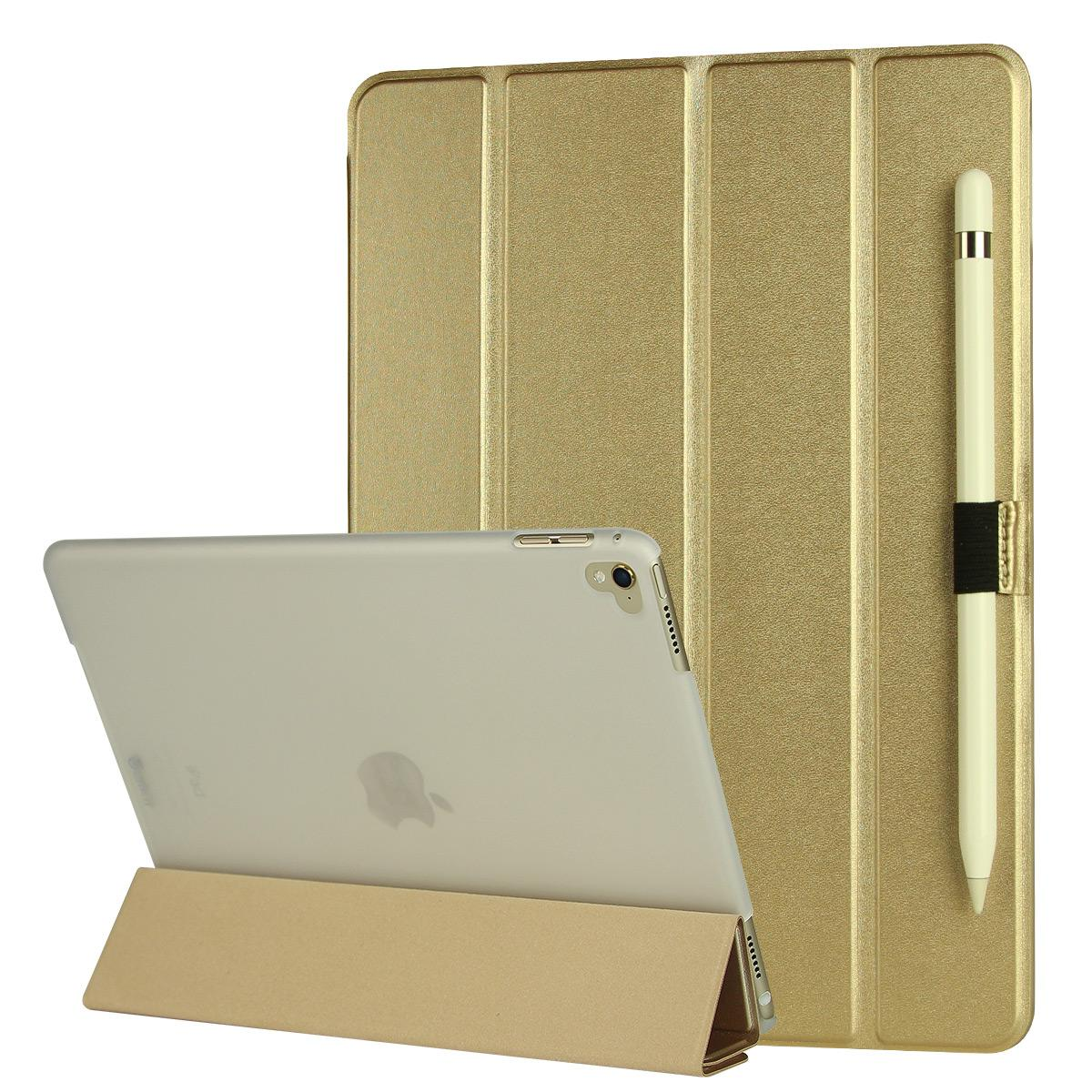 Ultra slim leather case for iPad Pro 9.7 with pen holder
