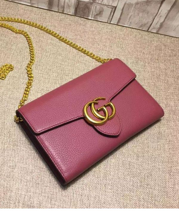 Gucci GG Marmont Leather Mini Chain Bag at itpurse.cn