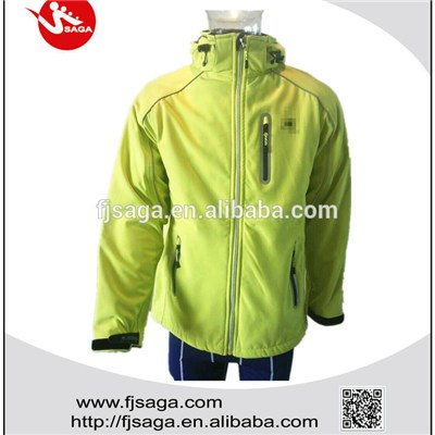 Men's high quality reflective fleece lined outdoor waterproof  jackets