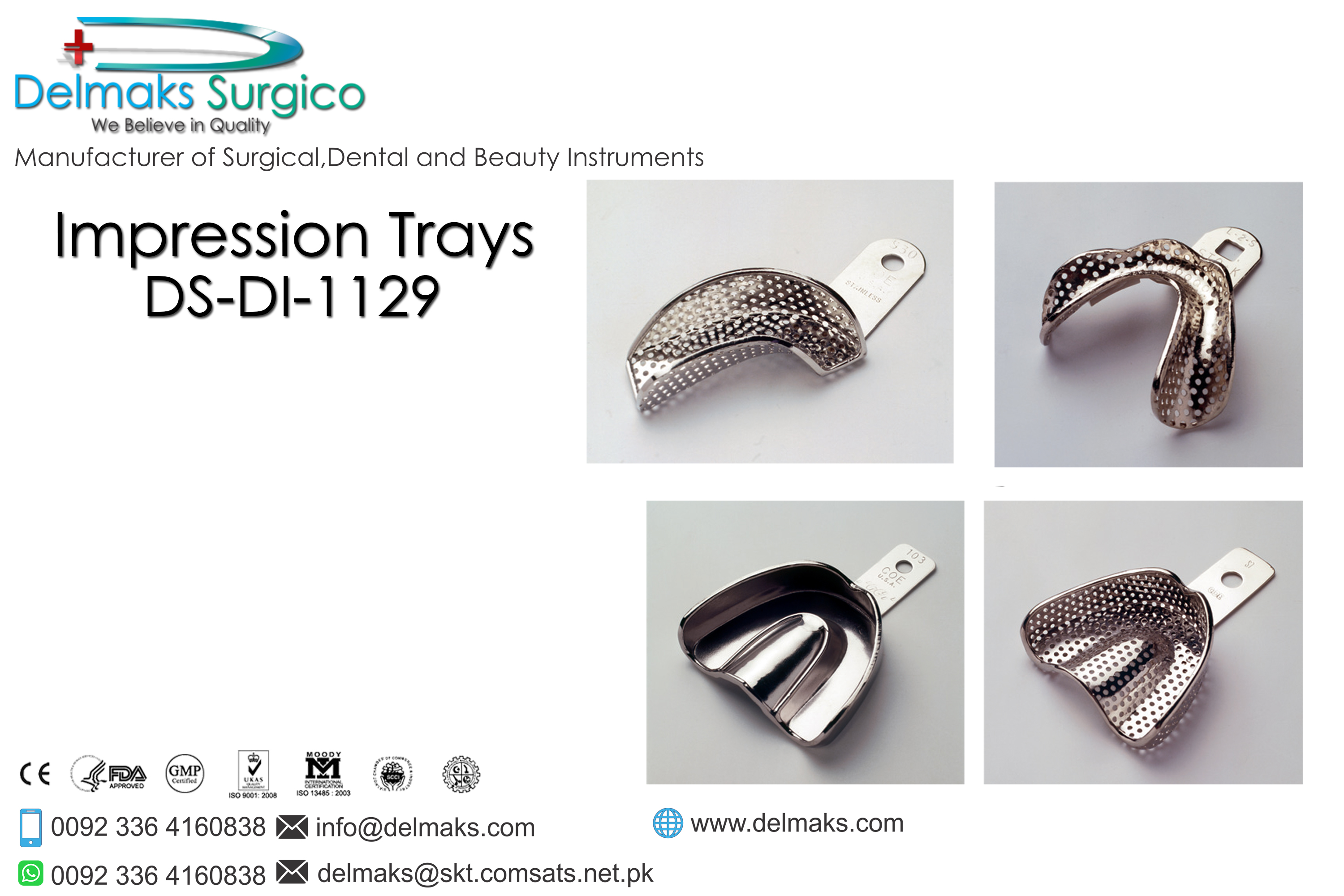 Impression Trays-Impression Instruments And Equipments-Dental Instruments-Delmaks Surgico