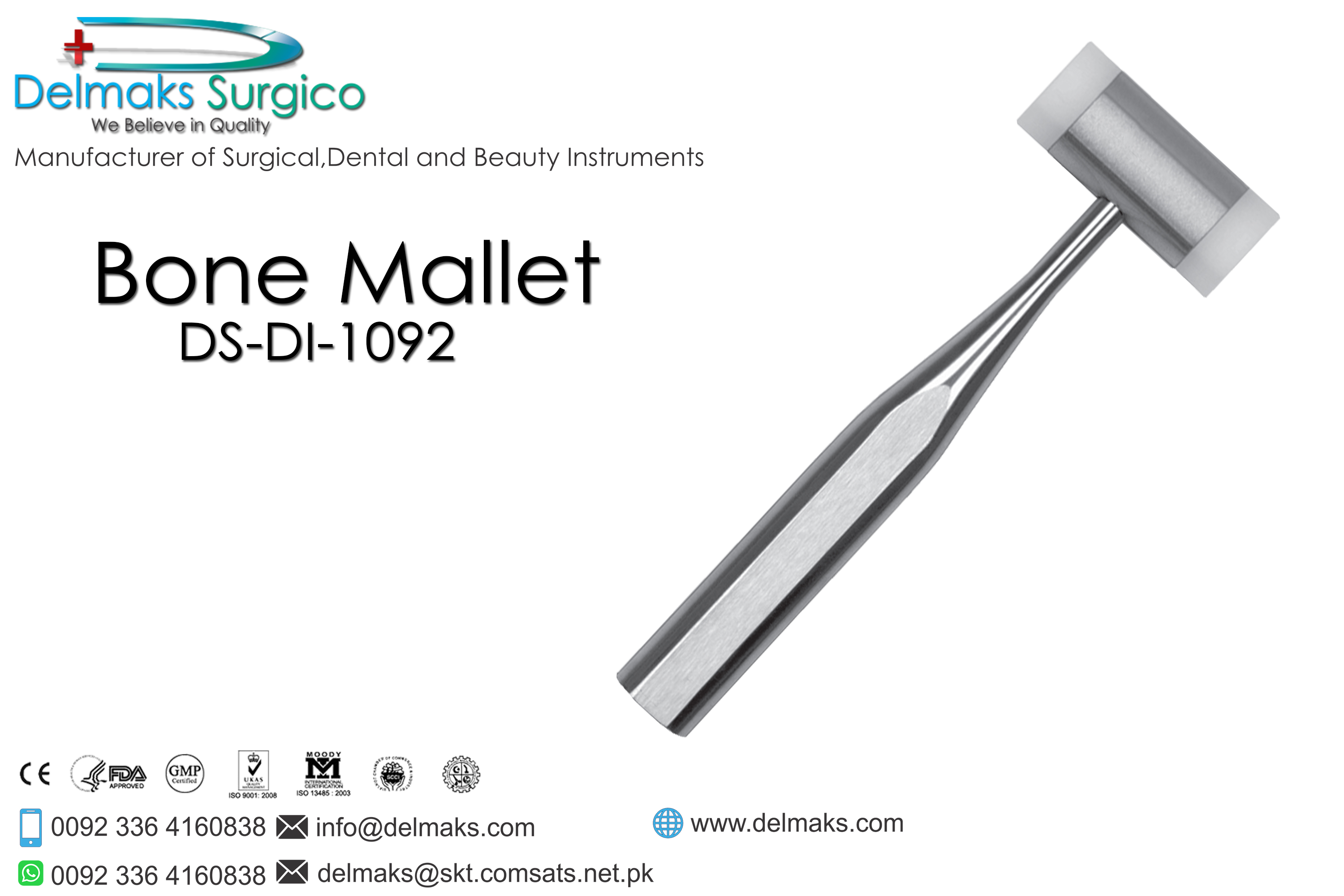 Bone Mallet-Oral And Maxillofacial Surgery Instruments-Dental Instruments-Delmaks Surgico