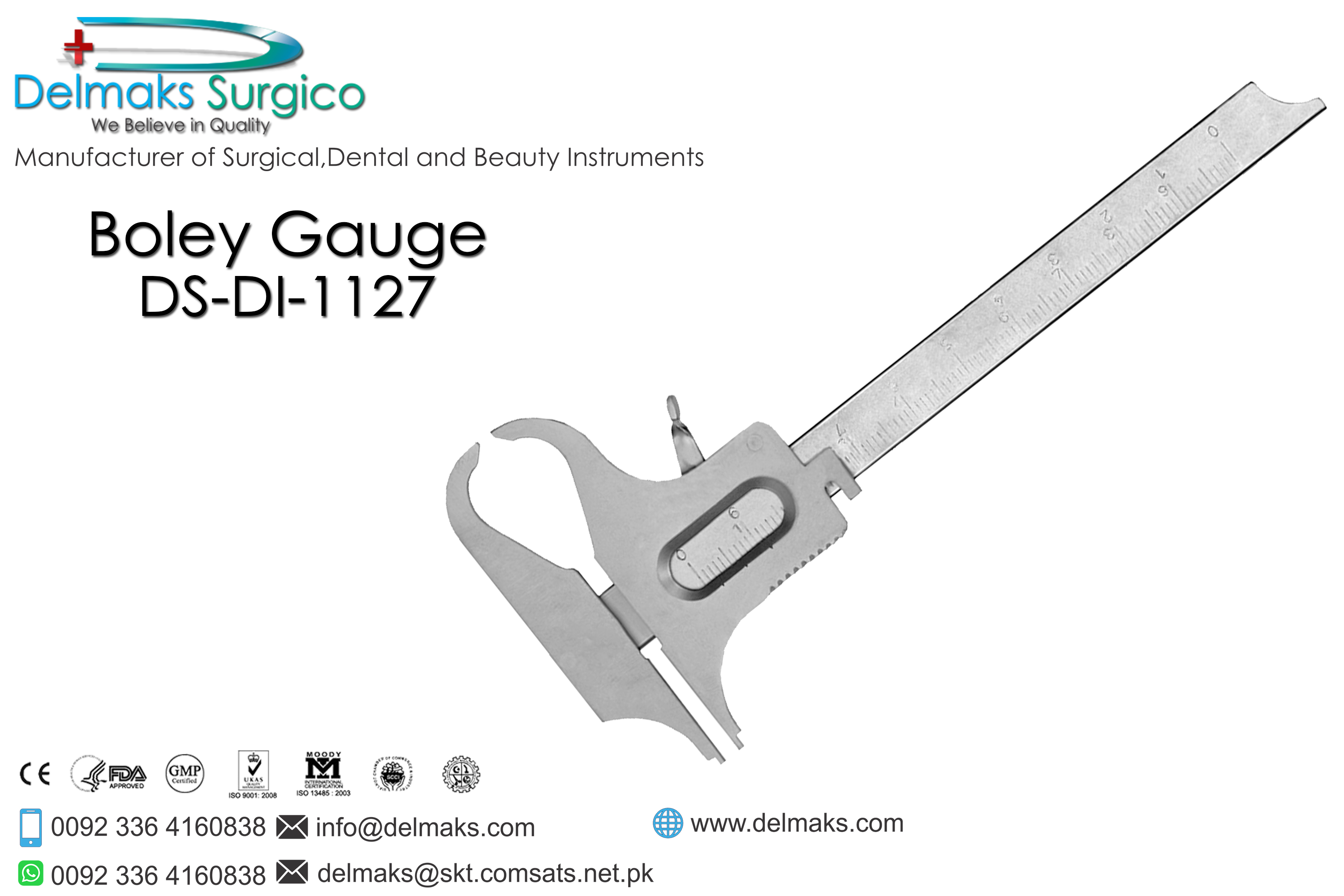 Boley Gauge Laboratory Instruments And Equipments-Dental Instruments-Delmaks Surgico
