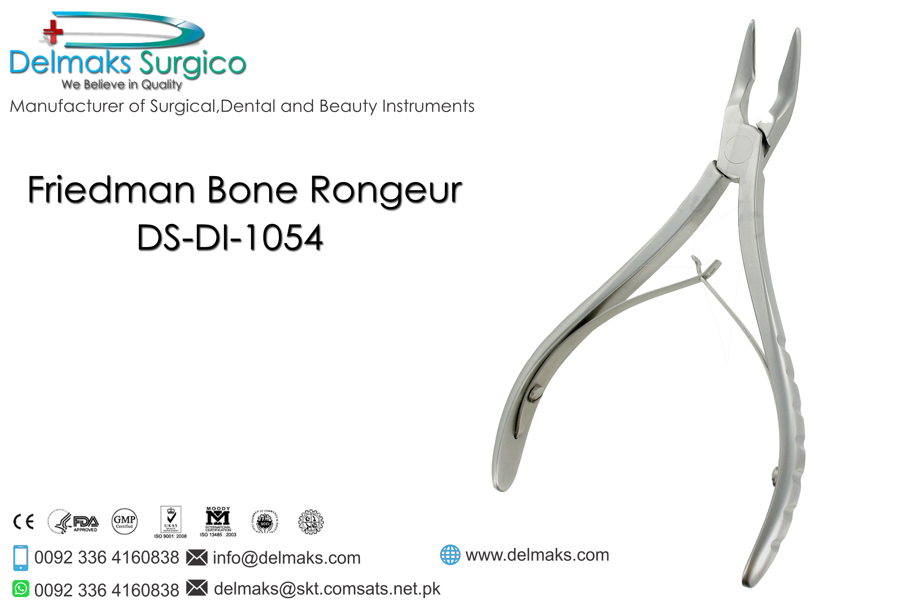 Friedman Bone Rongeur-Bone Rongeurs-Dental Instruments-Delmaks Surgico
