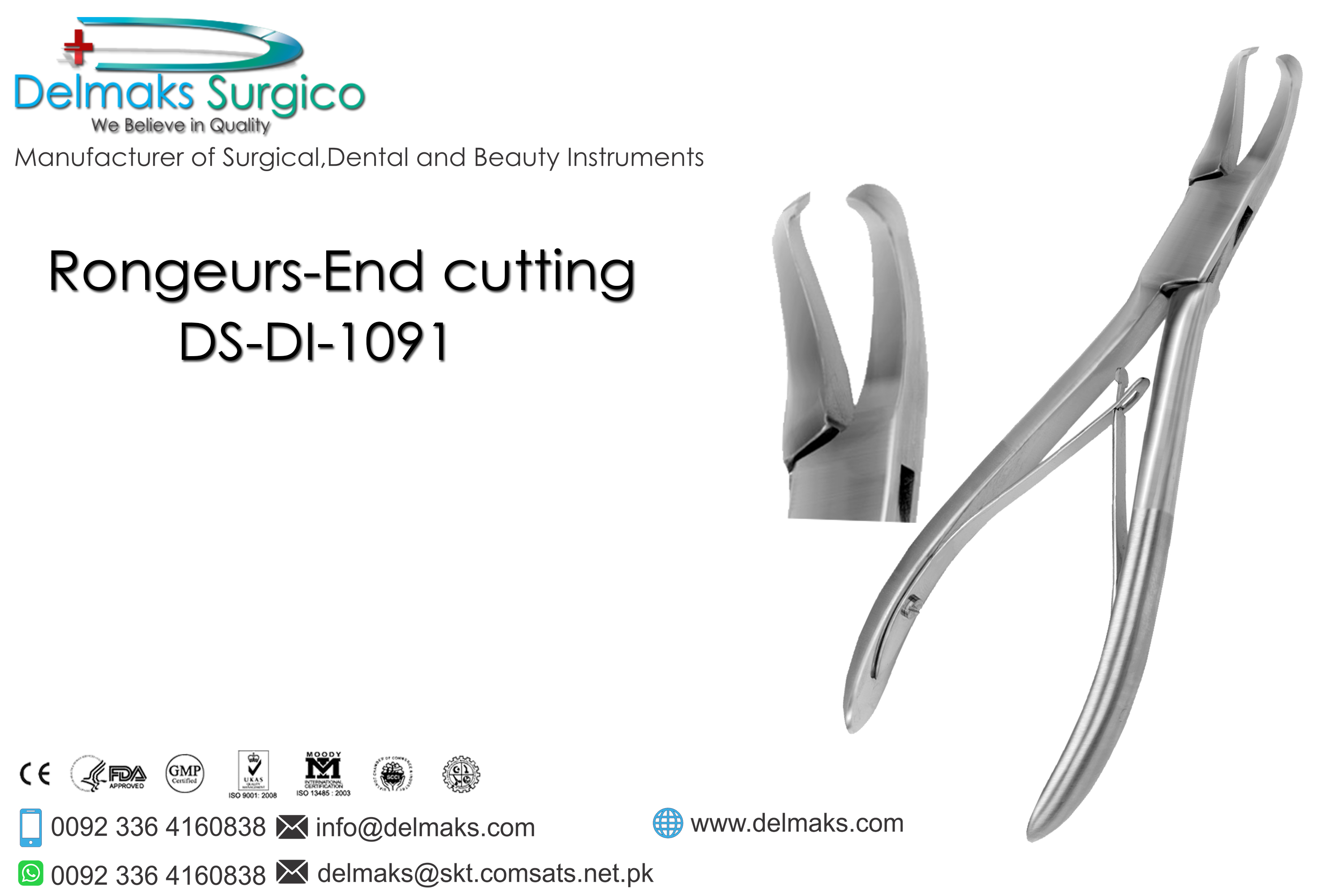 Rongeurs End Cutting-Oral And Maxillofacial Surgery Instruments-Dental Instruments-Delmaks Surgico