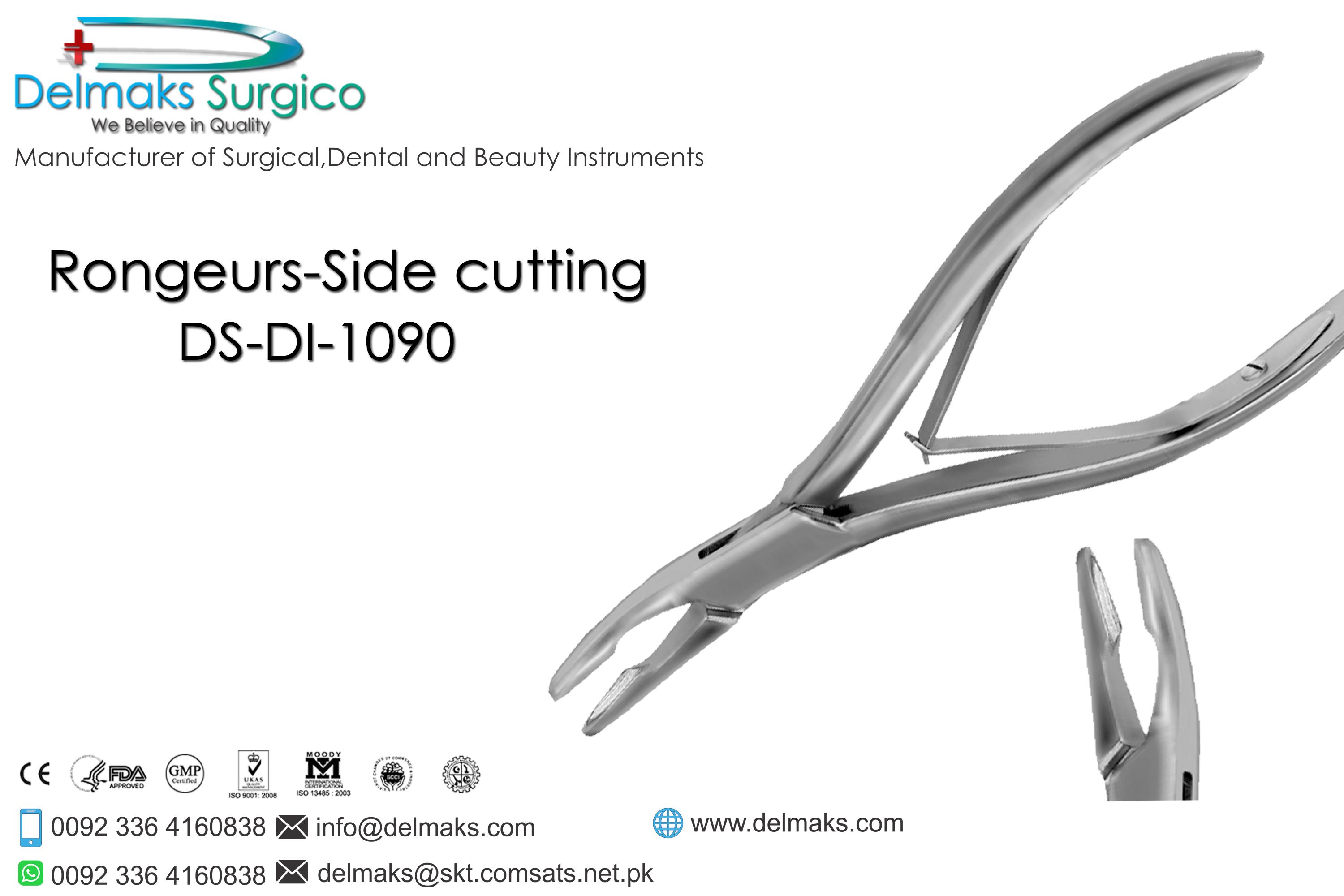 Rongeurs Side Cutting-Oral And Maxillofacial Surgery Instruments-Dental Instruments-Delmaks Surgico