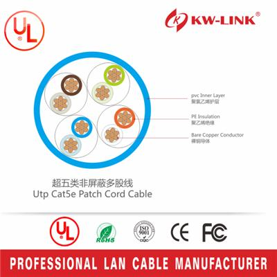 KW-LINK 8-Color Combo, Cat5e Snagless Ethernet Patch Cable 3 Feet