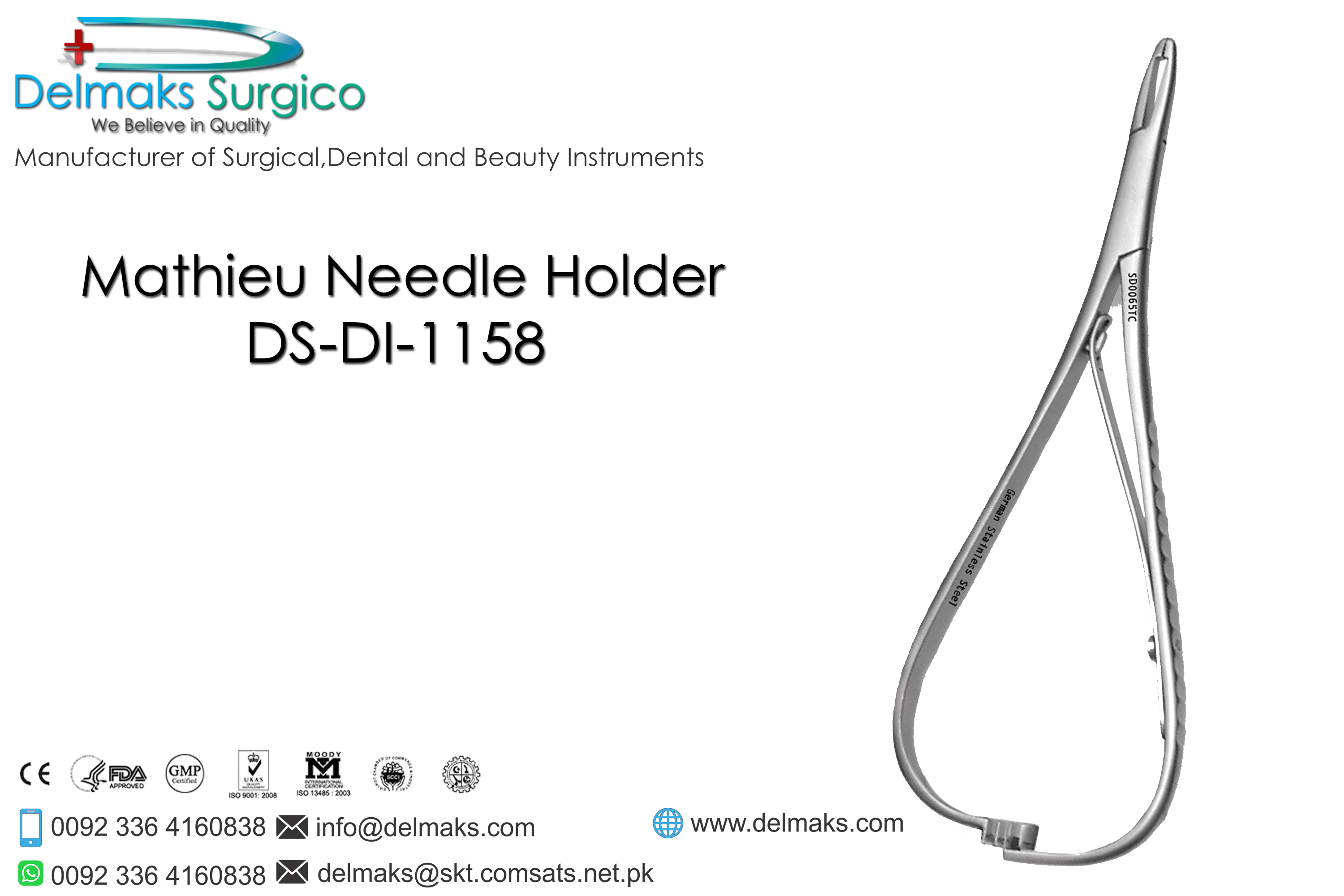 Mathieu Needle Holder-Needle Holders-Dental Instruments-Delmaks Surgico