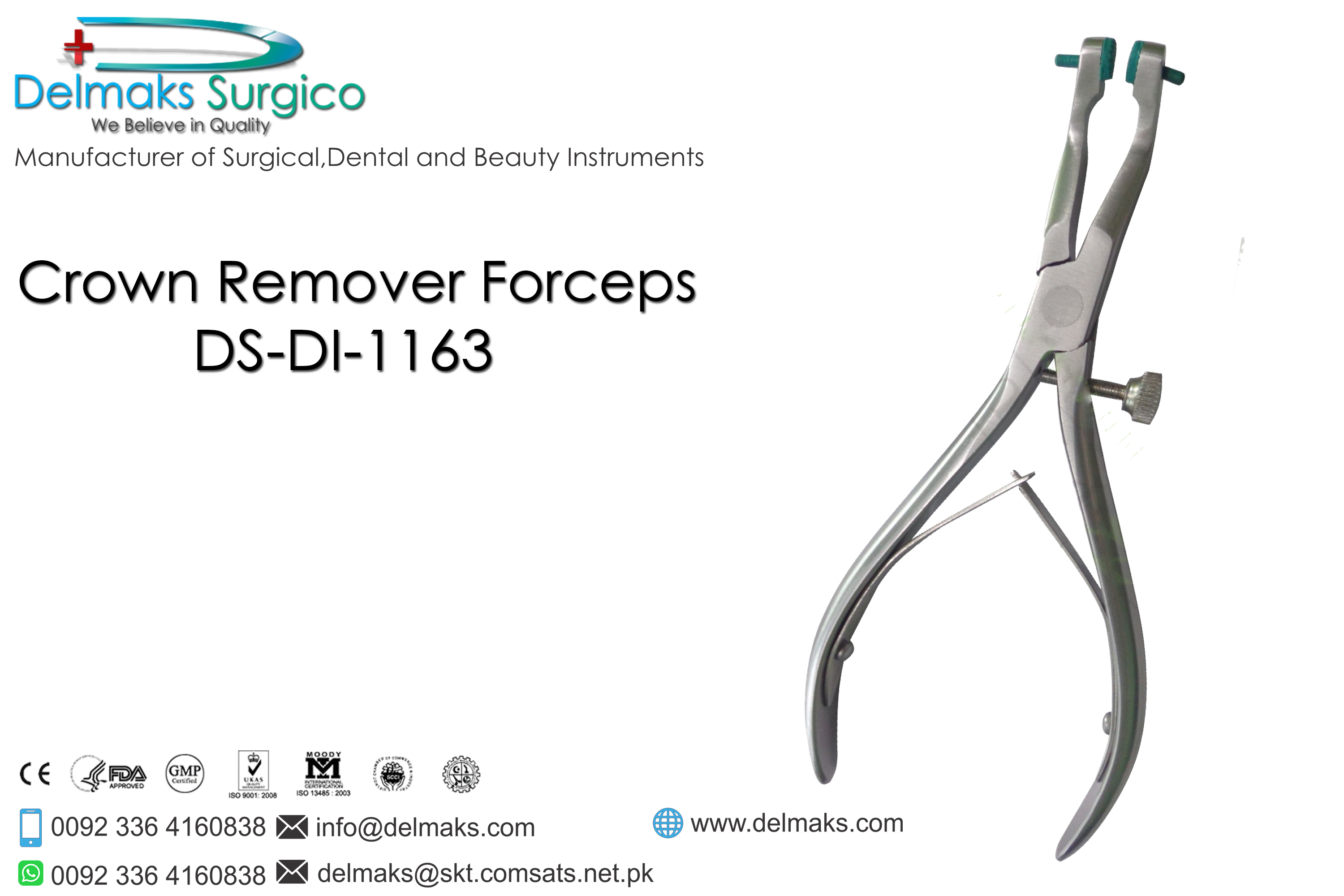 Crown Remover Forceps-Dental Instruments-Delmaks Surgico