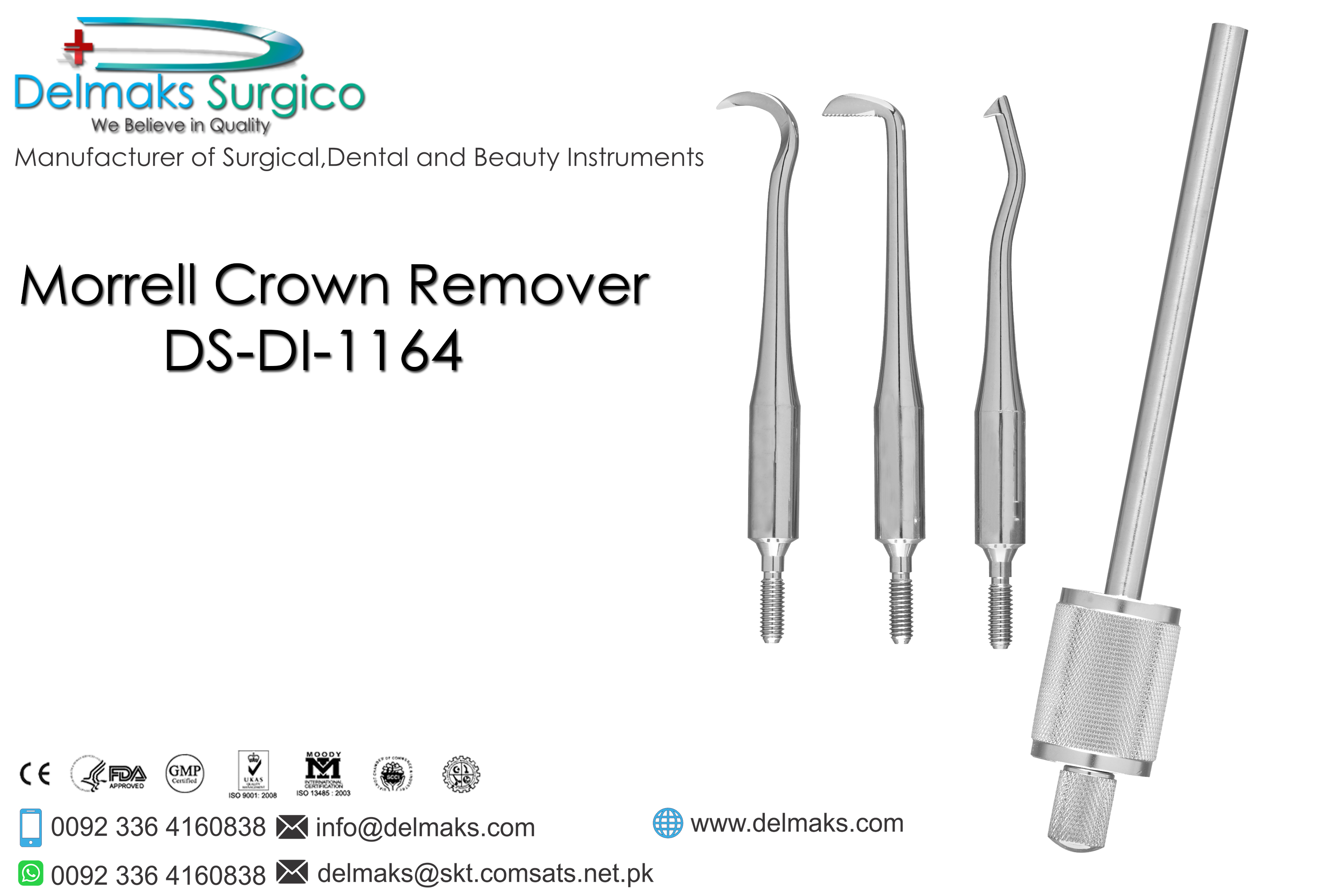 Morrell Crown Remover-Dental Instruments-Delmaks Surgico
