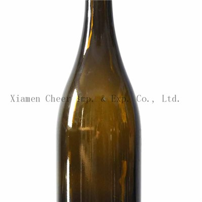 750ml Cork Finish Glass Burgundy Bottle(PT750-0070AG)