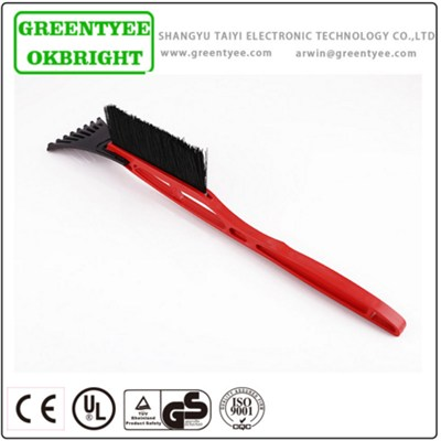 Red Ansd Black Snow Brush Scraper For Dealing With Ice On Car Window