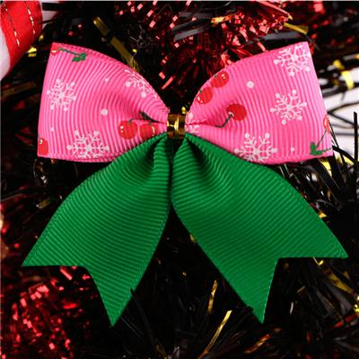 Decorative Printed Grosgrain Ribbon Christmas Ribbon Bow