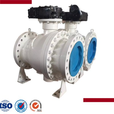 Forged Steel Flanged End Trunnion Ball Valve