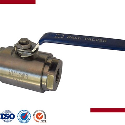 2Pcs Forged Steel Threaded Floating Ball Valve