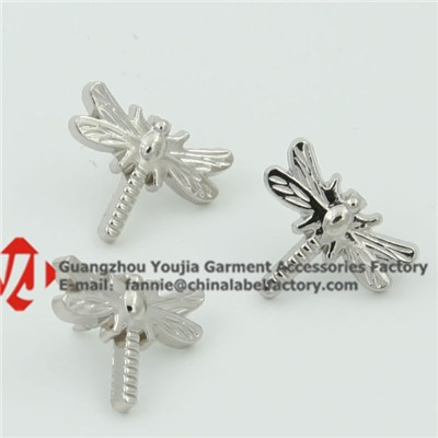 Dragonfly Silver Insect Lapel Pins