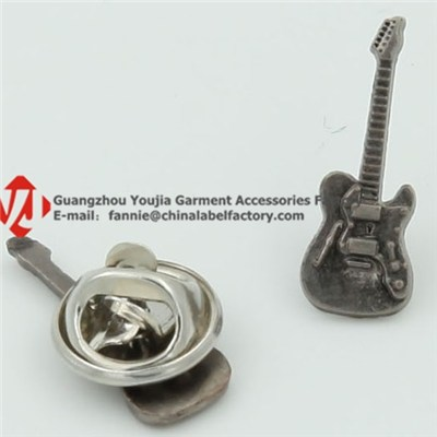 Funny Guitar Badge Lapel Pin Antique Style