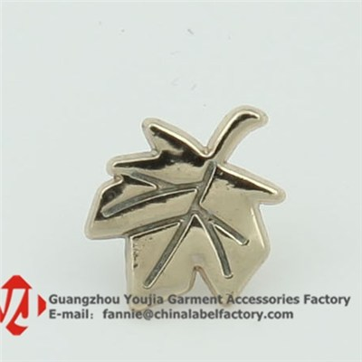 Leaf Shape Lapel Pin For Clothing