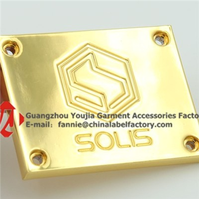Custom Engraved Samping Metal Logo Tag