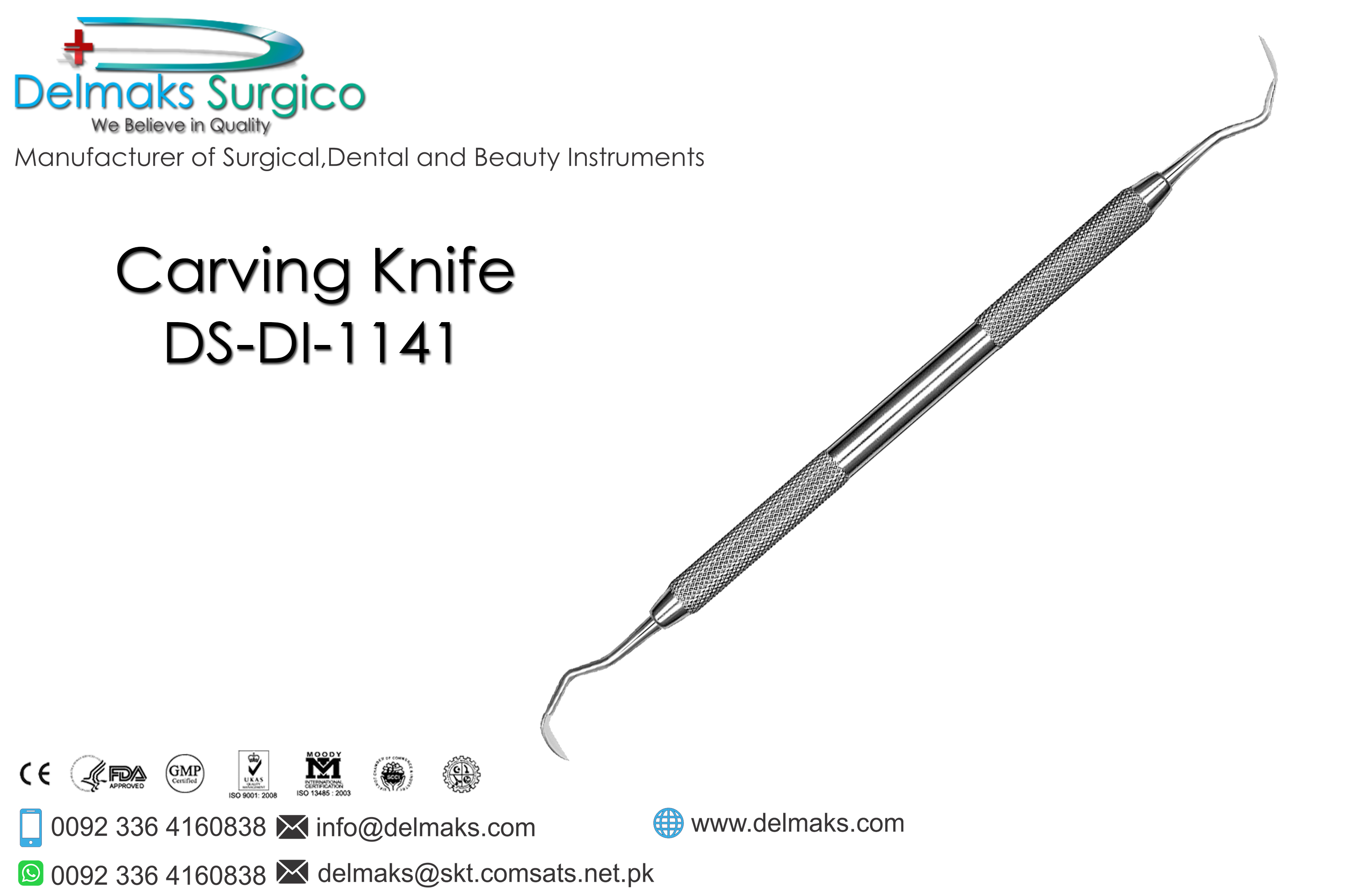 Carving Knife-Restorative Instruments-Dental Instruments-Delmaks Surgico